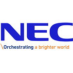 NEC logo with tagline